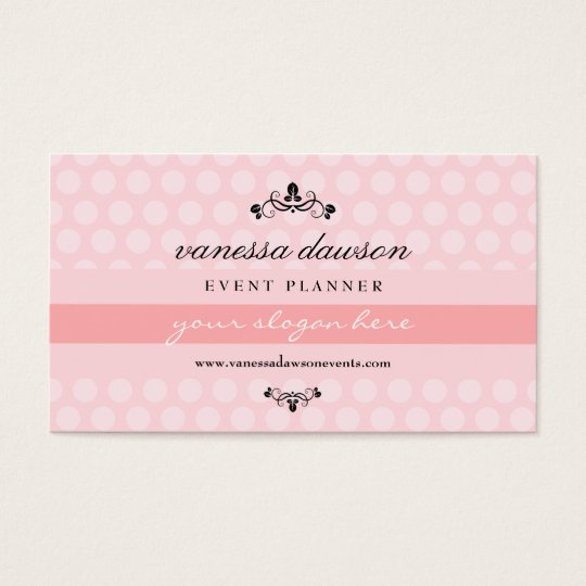 Elegant French Pink Simple Professional Trendy Business Card