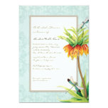 Elegant Fritillaria Dragonfly Floral Bridal Shower Personalized Announcements