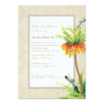 Elegant Fritillaria n Dragonfly Bridal Shower 13 Cm X 18 Cm Invitation Card