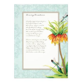 Elegant Fritillaria n Dragonfly Information Sheet Custom Invitations