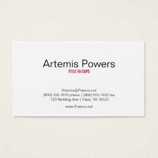 Elegant Front Circles Back Business Card