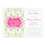 Elegant Fuchsia Pink Green Floral Bridal Shower