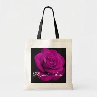 Elegant Fuchsia Rose Tote