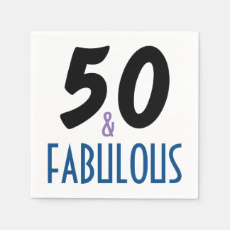 Elegant & Fun 50th Birthday Party Disposable Napkin