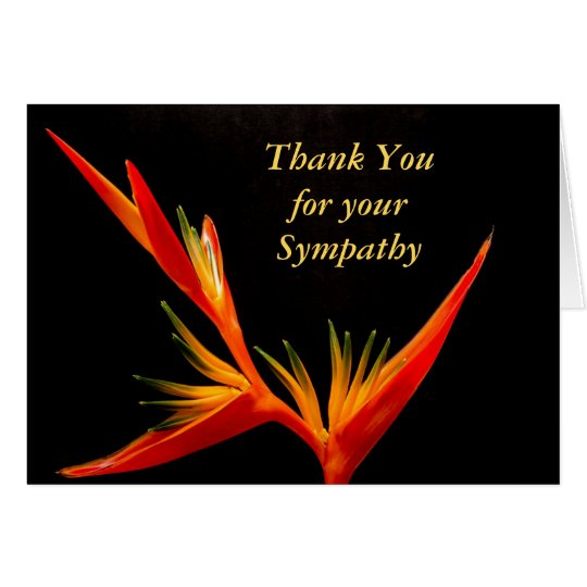 Elegant Funeral Sympathy Thank You Card