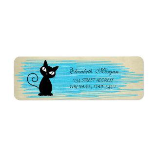 Elegant Funny Cute  Cat  Label