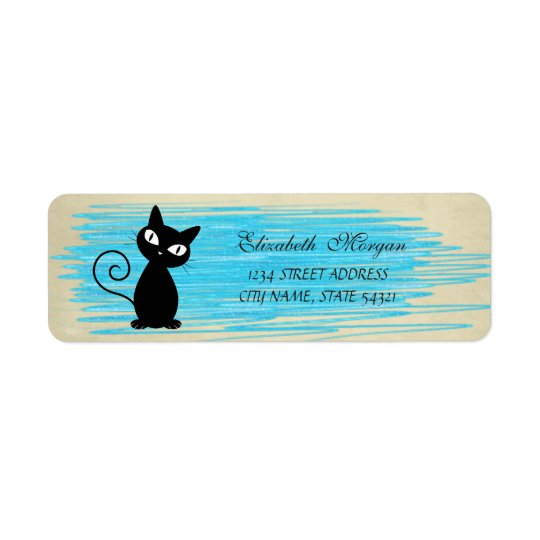 Elegant Funny Cute  Cat  Label