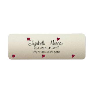 Elegant Funny Cute Ladybugs Label
