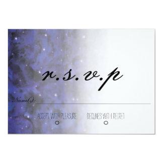 Elegant Galaxy RSVP card