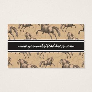 Elegant Galloping Spanish Horse Business Card