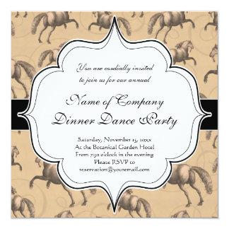 Elegant Galloping Spanish Horse 5.25x5.25 Square Paper Invitation Card
