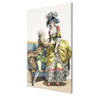 Elegant Gentleman Proposing to a Lady in a 'Margue Canvas Print
