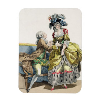 Elegant Gentleman Proposing to a Lady in a 'Margue Rectangular Photo Magnet