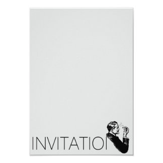 Elegant Gentlemen Invitation
