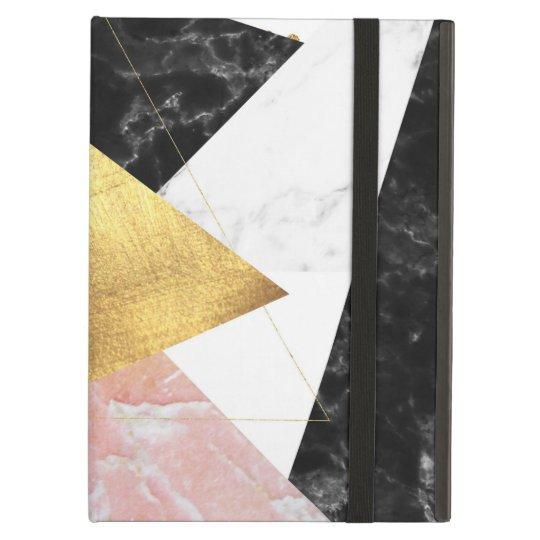 Elegant geometric marble and gold design iPad air