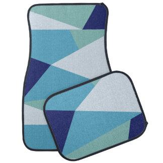 Elegant geometric navy blue and sea green pastel car mat