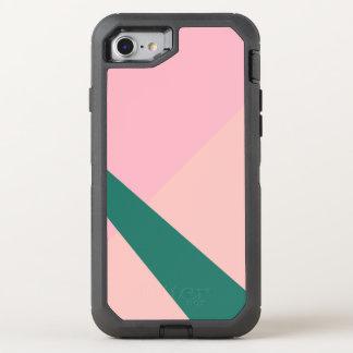Elegant geometric pastel pink peach green OtterBox defender iPhone 8/7 case