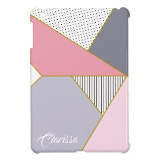Elegant geometric stripes polka dots pastel iPad mini case