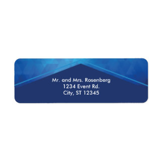 Elegant Geometric with Diamond Texture Bar Mitzvah Return Address Label