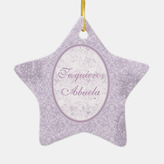 Elegant gift for grandmother ceramic star decoration