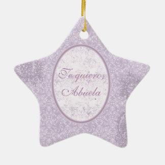 Elegant gift for grandmother christmas ornament