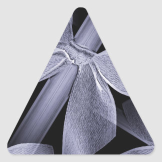 Elegant Gift with bow Triangle Sticker