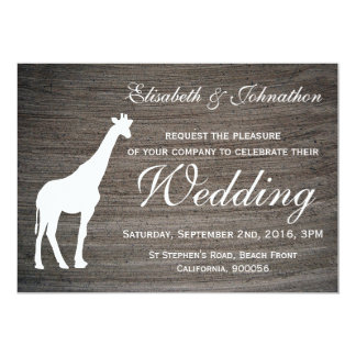 Elegant Giraffe Clay Wedding Card