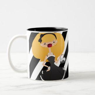 Elegant Girl Two-Tone Mug