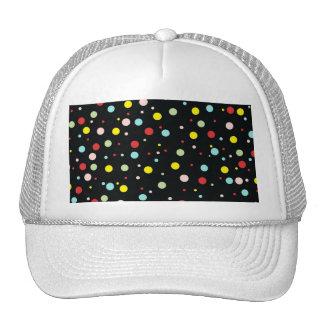 Elegant Girly Colorful Polka Dots Hat