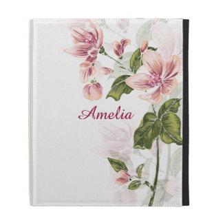 Elegant Girly Floral iPad Folio Cases
