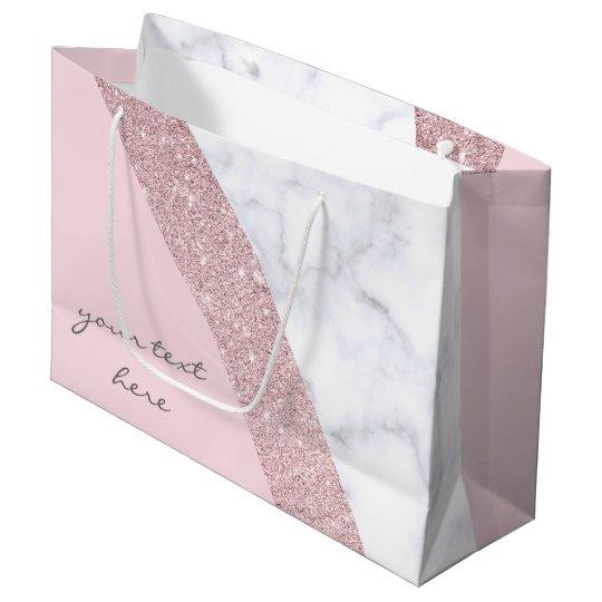 elegant girly rose gold glitter white marble pink