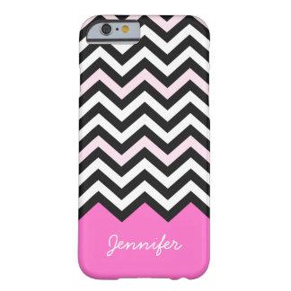 Elegant Girly Stylish Light Pink Chevron Pattern Barely There iPhone 6 Case