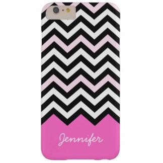Elegant Girly Stylish Light Pink Chevron Pattern Barely There iPhone 6 Plus Case