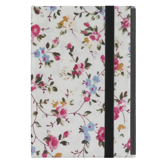 Elegant girly trendy vintage roses floral pattern iPad