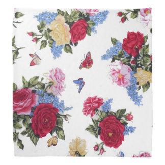 Elegant girly vintage roses  floral butterflies bandana