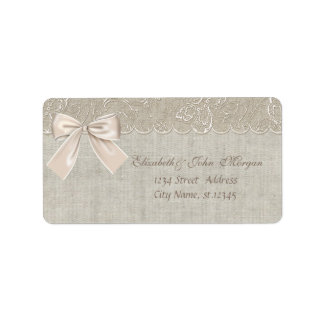 Elegant Glamorous  Romantic Stylish,Bow,Lace, Address Label