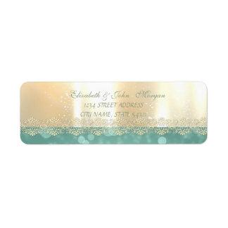 Elegant Glamorous Shiny ,Bokeh,Lace  Address Label