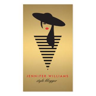 Elegant Glamour Gold Mod Stylist, Salon, Blogger Pack Of Standard Business Cards