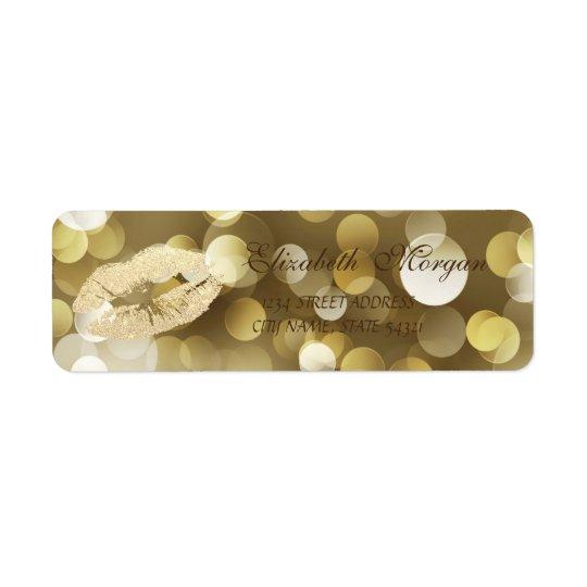 Elegant Glamourous  Address Label-Lips Return Address Label