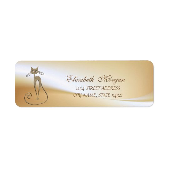 Elegant Glamourous  Cat  Address Label-