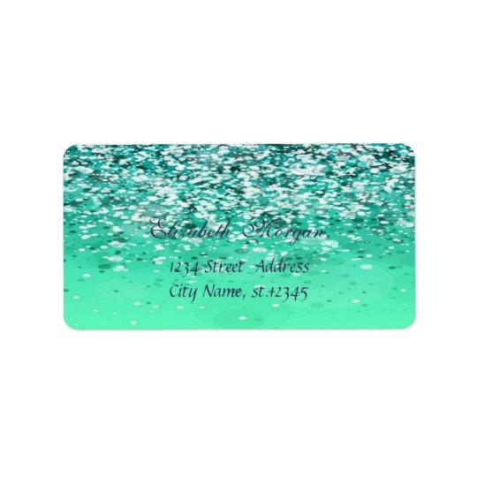Elegant Glamourous  Chic Glittery Bokeh Label