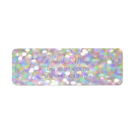 Elegant Glamourous  Clorful  Bokeh Address Label