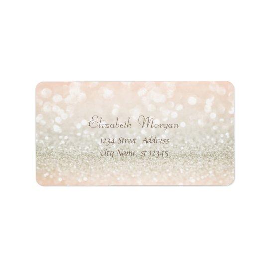 Elegant Glamourous  Glittery,Bokeh Address Label