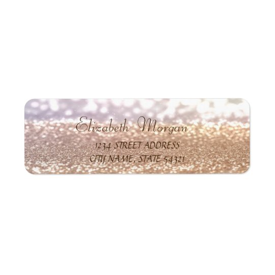 Elegant Glamourous  Glittery  Bokeh Address Label