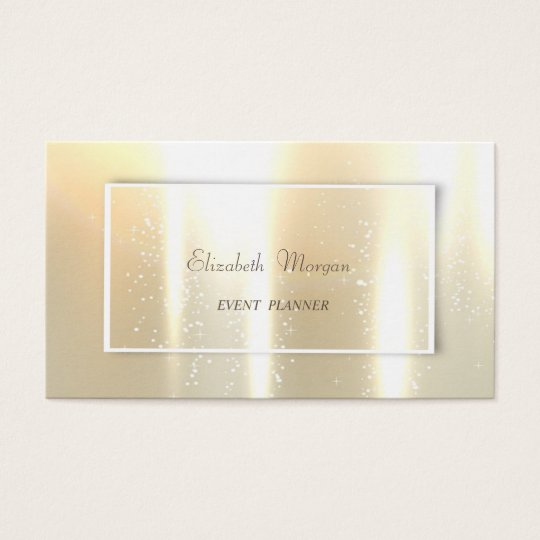 Elegant Glamourous Shinny, Faux Gold Business Card