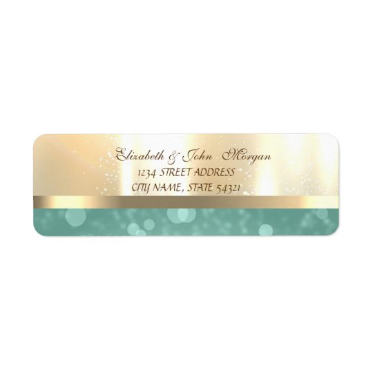 Elegant Glamourous Shiny ,Bokeh Address Label