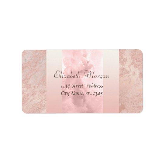 Elegant Glamourous Stylish,Pink Address Label