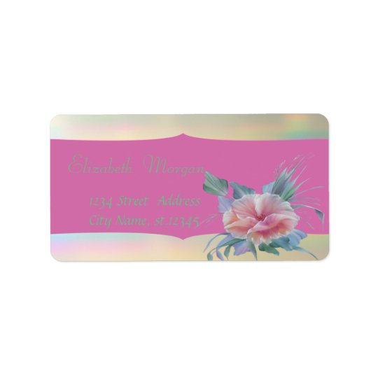 Elegant Glamourous Stylish Romantic,Flower Address Label