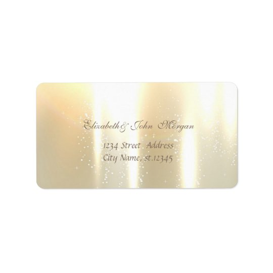 Elegant Glamourous  Stylish Shiny Label