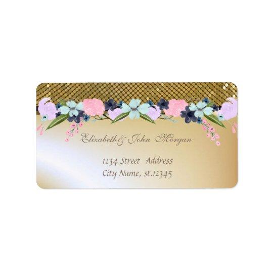 Elegant Glamourous  Stylish Shiny,Sequins,Flowers Label